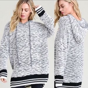 Popcorn Sweater Knit Hoodie